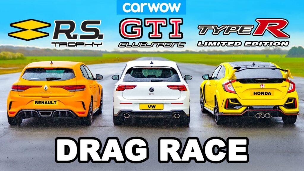 Golf GTI Clubsport vs Civic Type R vs Megane RS Trophy – który hothatch jest najszybszy?