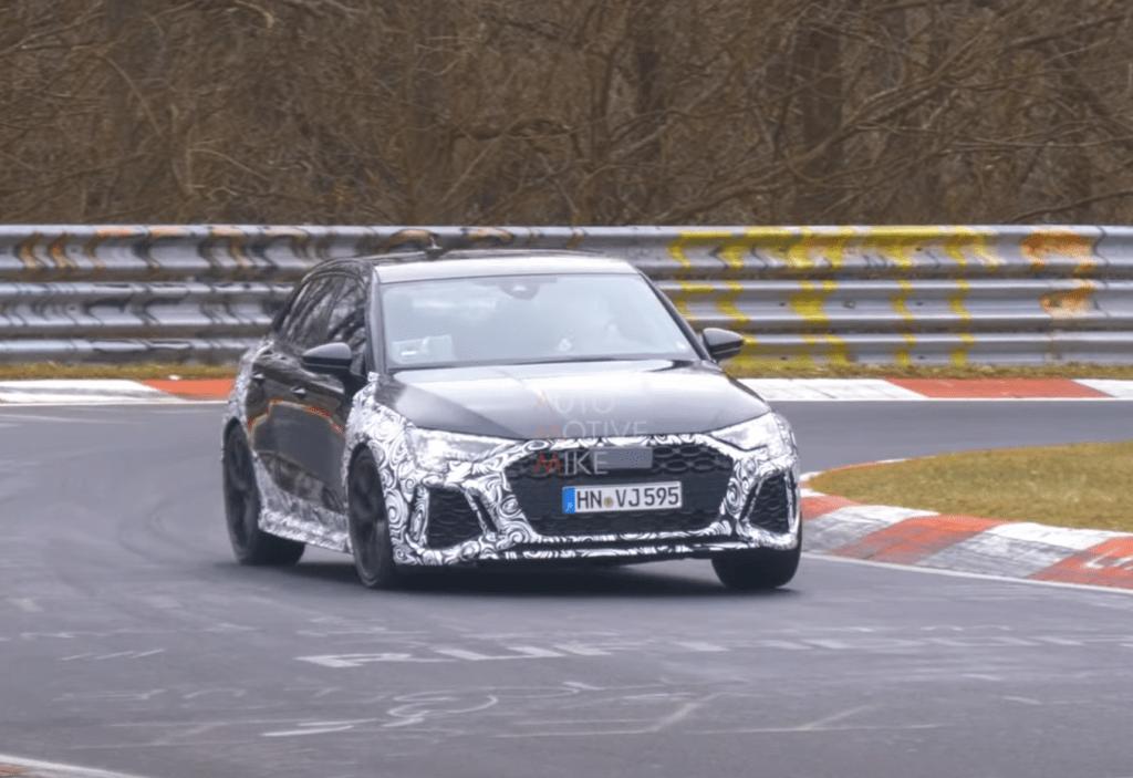 Nowa generacja Audi RS3 zauważona podczas testów na Nurburgringu