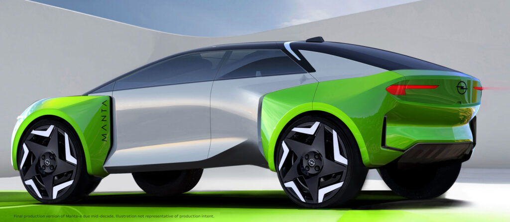 Opel w pełni elektryczny od 2028 – Manta E z debiutem w połowie dekady