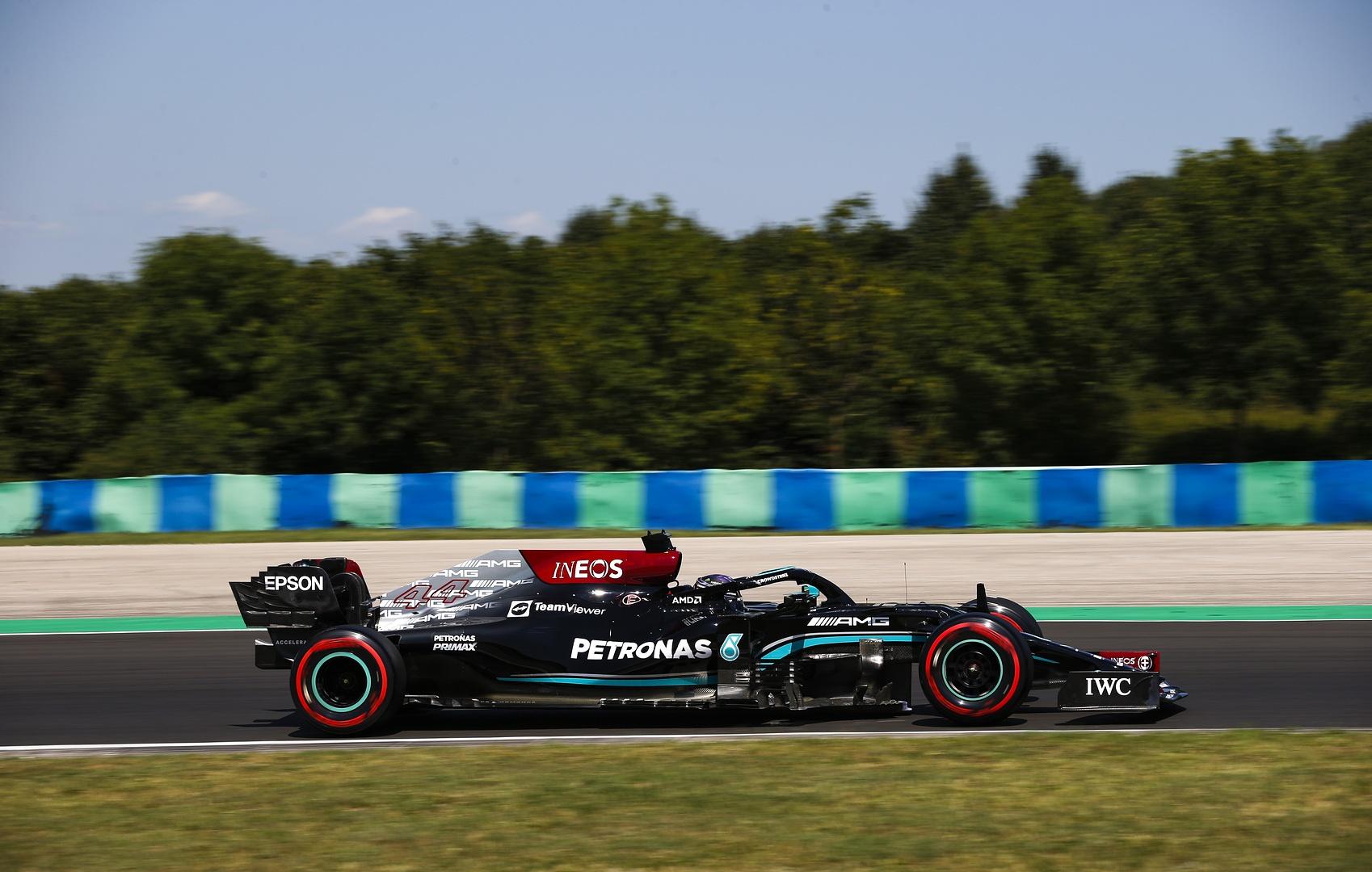 Lewis Hamilton podczas treningu przed Grand Prix Węgier