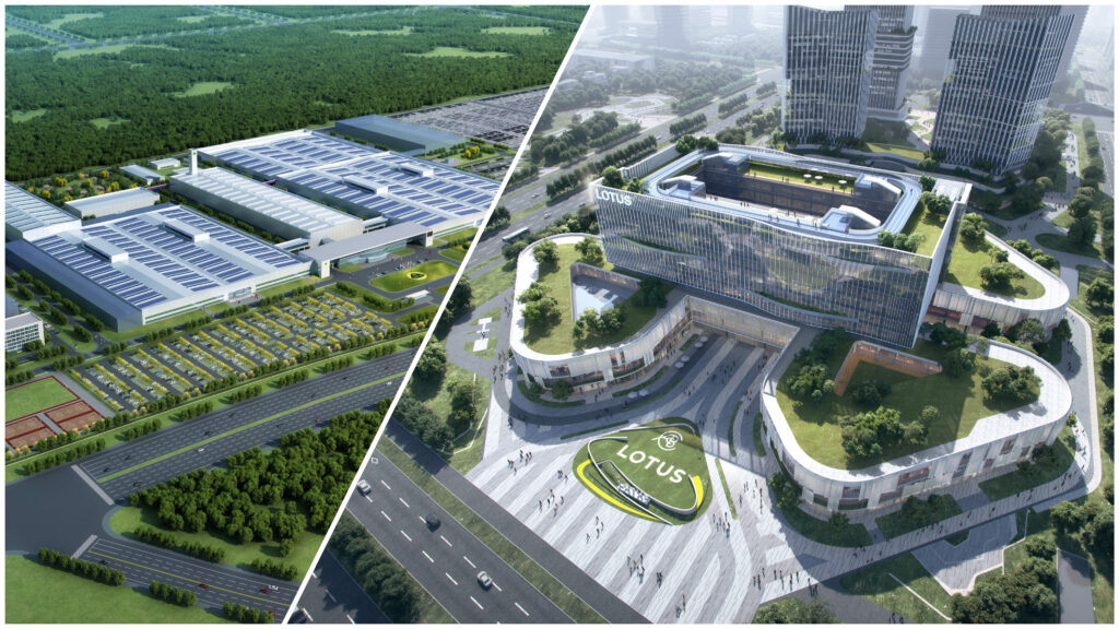Lotus z nowymi obiektami w Chinach przygotowuje się na elektryfikację