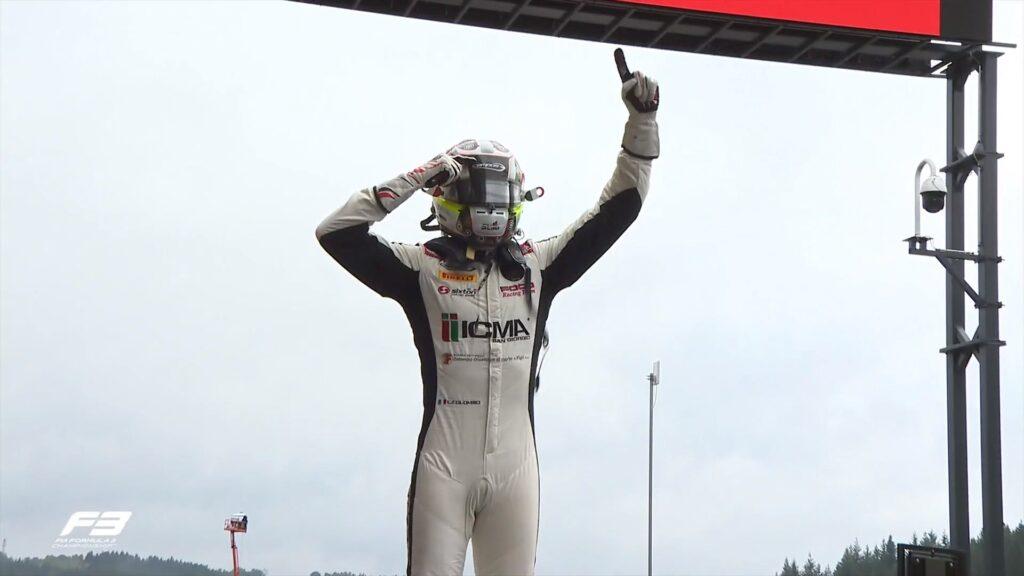 Lorenzo Colombo wygrywa deszczowy wyścig na torze Spa
