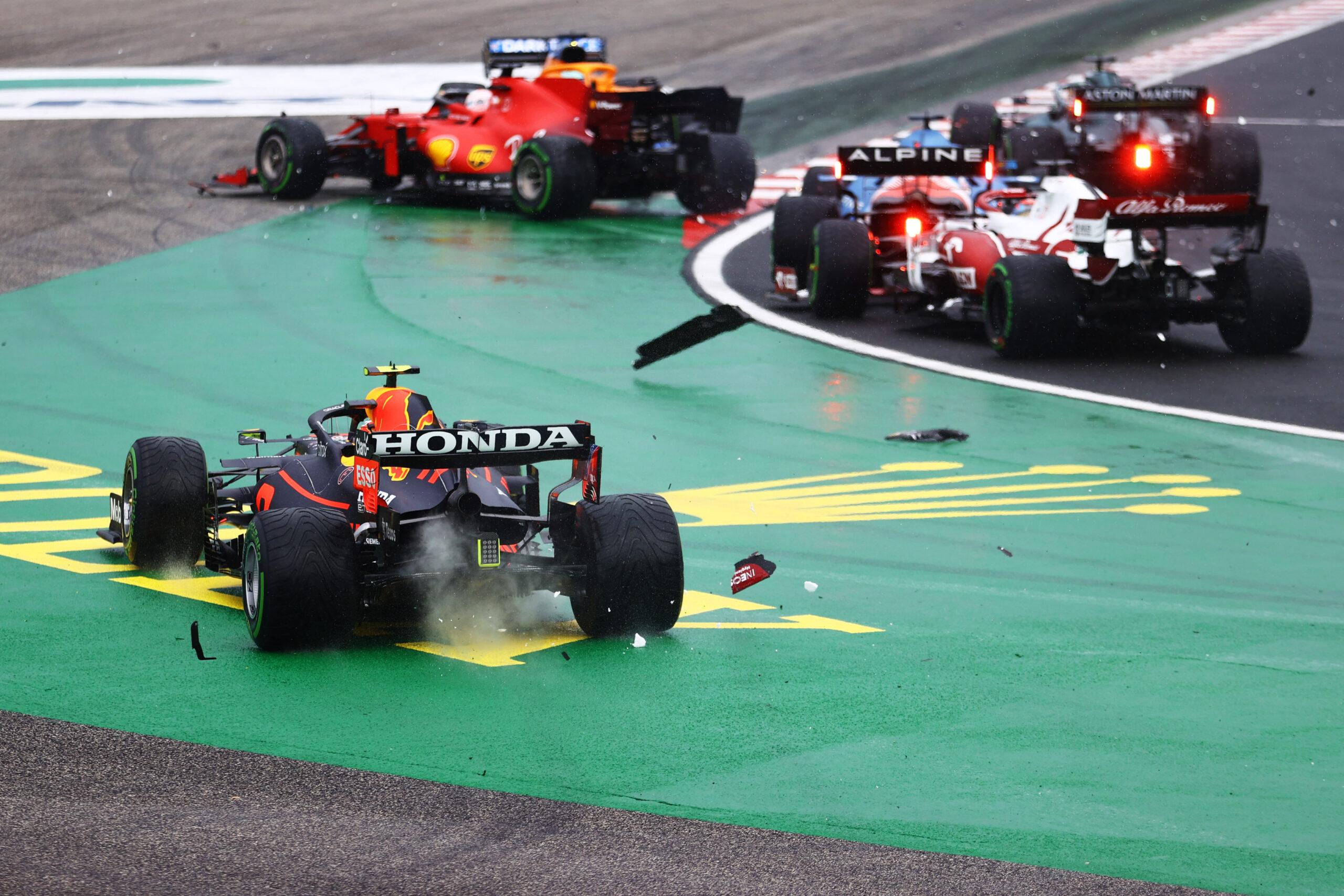 GP Węgier start, Esteban Ocon
