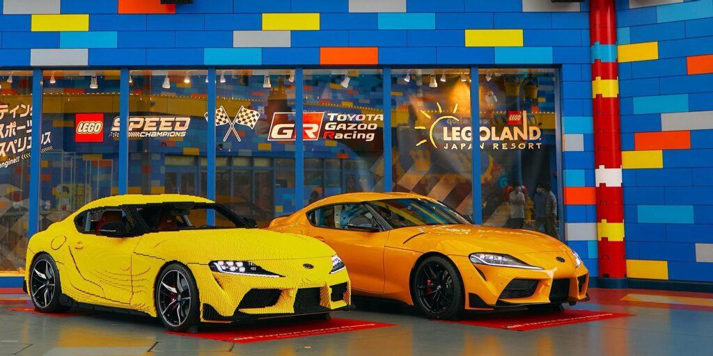 Toyota GR Supra jeździ również w skali 1:1 odwzorowana z klocków LEGO