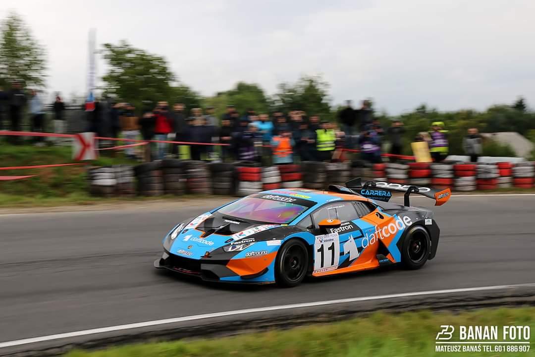 Jędrzej Szcześniak za kierownicą Lamborghini Hyracan Super Trofeo