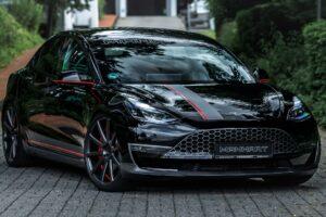 Tesla Model 3 Performance po tuningu Manharta – styl i dodatkowa moc