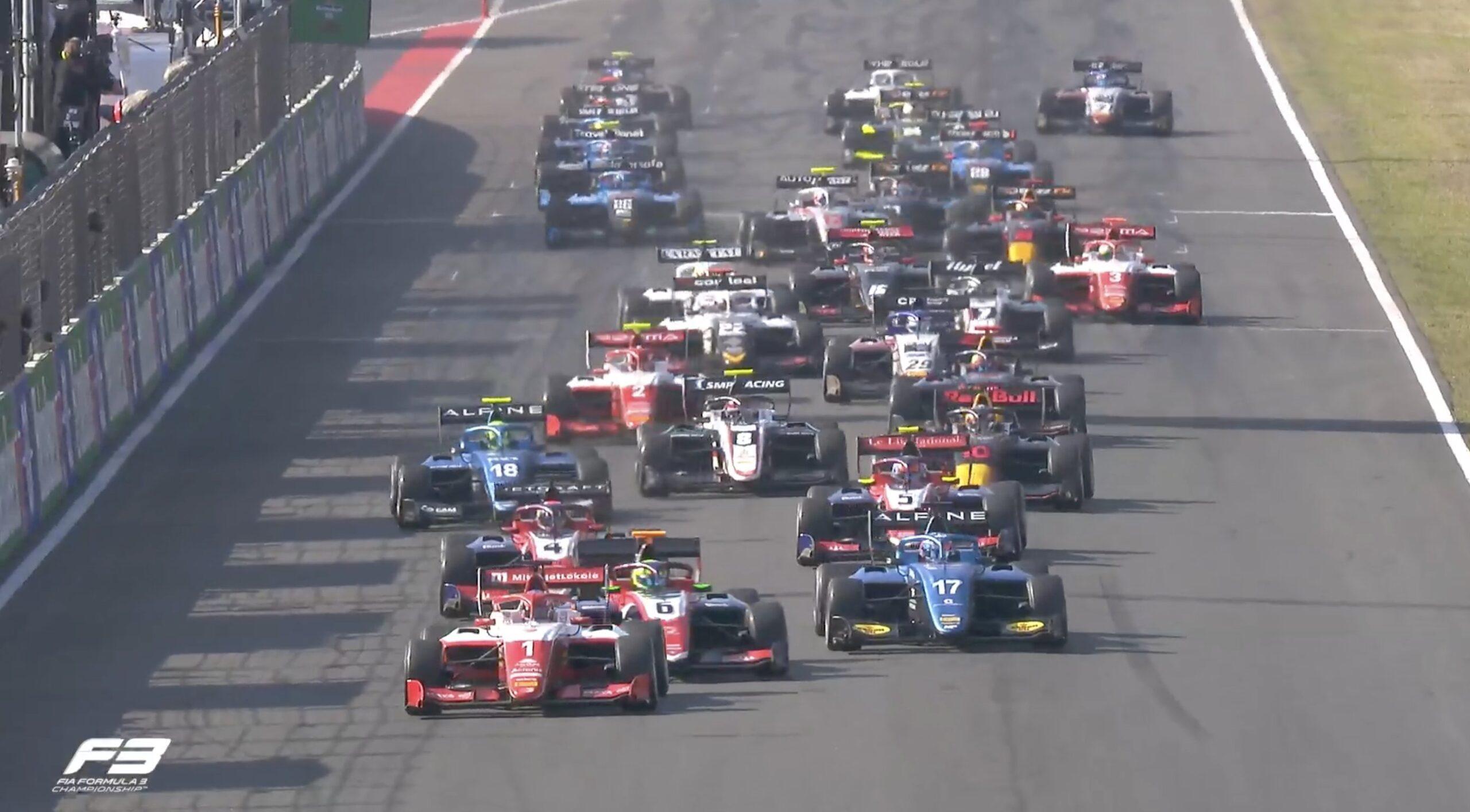 Dennis Hauger; start do wyścigu F3
