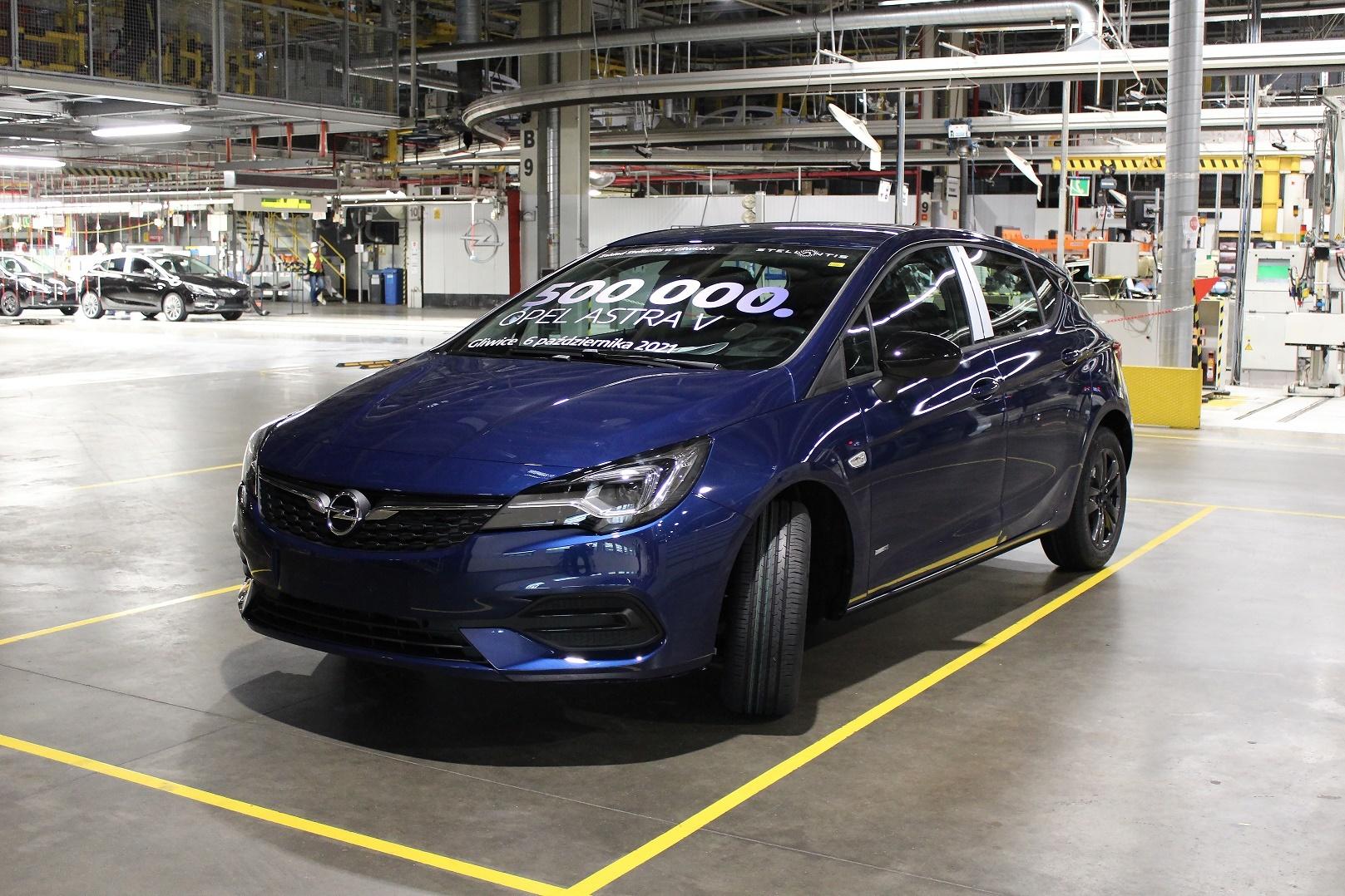 Fabrykę Opla w Gliwicach opuściło już 500 tysięcy sztuk modelu Astra