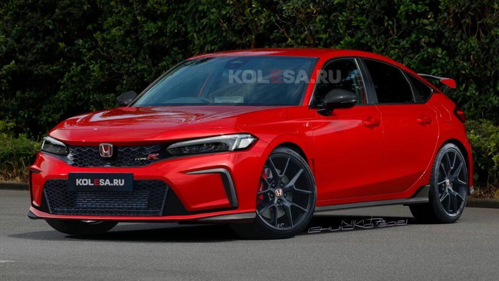Render nowej Hondy Civic Type-R oparty na oficjalnych zapowiedziach